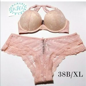 Victoria's Secret Push Up Bra Set 38B/XL